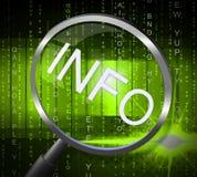 La lupa de la información indica que la búsqueda informa y FAQ Fotos de archivo libres de regalías