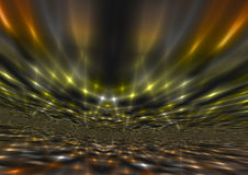 La luz ámbar abstracta brillante irradia el fondo Foto de archivo libre de regalías