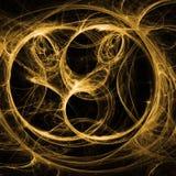 La luz ámbar agita el fractal Art With Shining Foto de archivo libre de regalías