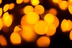 La luz amarilla del color empañó el fondo del bokeh, unfocused Foto de archivo libre de regalías
