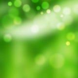 La luz chispea en verde Imagen de archivo