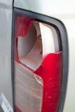 La luz de la cola del coche se ha roto Fotografía de archivo libre de regalías