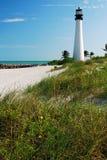 La luz de la Florida del cabo en Key Biscayne Fotos de archivo