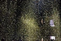 La luz de la instalación es tiempo de ciudadano en los di Milano de Triennale Fotos de archivo