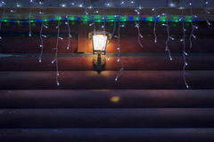 La luz de la lámpara y de las bombillas Foto de archivo libre de regalías