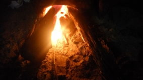 La luz de la llama Imagen de archivo libre de regalías