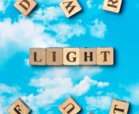 La luz de la palabra Imagen de archivo