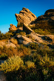 La luz de la tarde en rocas en Vasquez oscila el parque del condado, en el Agua Dul Fotos de archivo libres de regalías