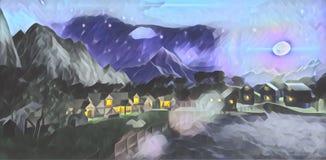 La luz de la luna de la noche stock de ilustración