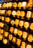 La luz de muchas lámparas Fotos de archivo