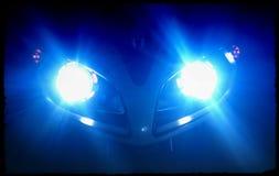 La luz del proyector en la bici estupenda foto de archivo
