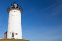 La luz del punto de Nobska es un faro situado en Cape Cod, los E.E.U.U. Imagen de archivo libre de regalías