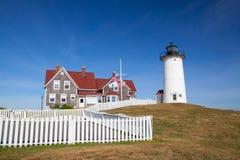 La luz del punto de Nobska es un faro situado en Cape Cod, los E.E.U.U. Foto de archivo
