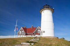 La luz del punto de Nobska es un faro situado en Cape Cod, los E.E.U.U. Fotos de archivo libres de regalías