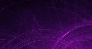 La luz rosada y púrpura abstracta brilla intensamente, los haces, formas en fondo oscuro stock de ilustración