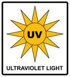 La luz ultravioleta de la intensidad protege sus ojos ULTRAVIOLETA ilustración del vector