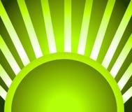 La luz verde irradia el fondo stock de ilustración