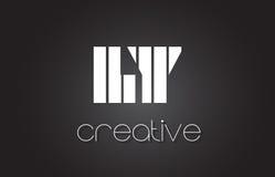 La LY L lettre Logo Design With White de Y et lignes noires Photo stock