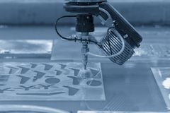 La máquina del chorro de agua fotos de archivo