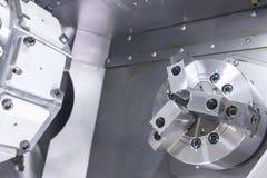 La máquina del listón del CNC, cierre hasta la acción principal Fotos de archivo