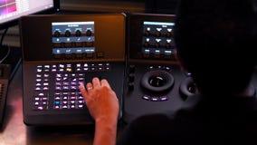 La máquina del regulador de Telecine para corrige color en el vídeo digital foto de archivo