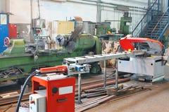 La máquina está en taller de la producción Fotografía de archivo libre de regalías