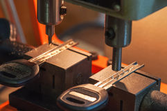 La máquina hace llaves Imagenes de archivo