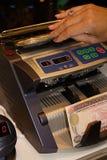 La máquina para el cálculo del dinero Foto de archivo