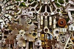La máquina parte el fondo Fotografía de archivo