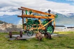 La máquina trapezoidal de la taladradora en Haines Foto de archivo