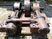 La máquina usada en la fábrica de la caña de azúcar de solo del sondokoro imágenes de archivo libres de regalías