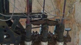 La máquina vieja, maquinaria, aherrumbró, anticuado metrajes