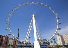 La más nueva atracción de Las Vegas el gran apostador Ferris Wheel Foto de archivo libre de regalías