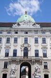 La más vieja parte del palacio de Hofburg en Viena, Austria foto de archivo