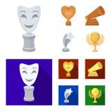 La máscara blanca imita para el mejor drama, un premio bajo la forma de corazón y otros premios Los premios de la película fijaro libre illustration