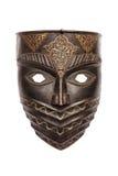 La máscara del metal aislada en blanco fotos de archivo libres de regalías