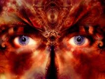 La máscara del traje Eyes el arte de Digitaces foto de archivo libre de regalías