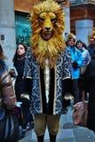 la máscara del Veneciano-estilo, el carnaval de Venecia es una del más famosa del mundo, su característico es las máscaras, cread imagen de archivo