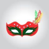 La máscara para los cristales del carnaval o de la mascarada brilla, illustrat ilustración del vector