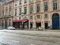 La máxima famosa del restaurante en la calle Royale en París Imagen de archivo
