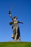 La mère patrie sur Mamaev Kurgan Image libre de droits