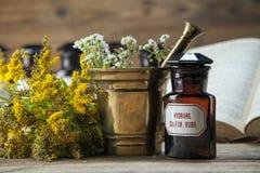 La médecine, les herbes et les médecines naturelles antiques Photo stock