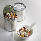 La médecine peut Photo stock