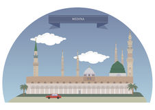 La Médina, Arabie Saoudite illustration de vecteur