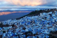La Médina de Chefchaouen, Maroc Images libres de droits