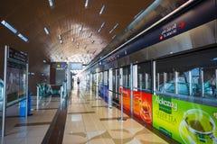 La métro de Dubaï comme ` s du monde le plus longtemps a entièrement automatisé le réseau 75 de métro Photos stock