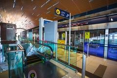 La métro de Dubaï comme ` s du monde le plus longtemps a entièrement automatisé le réseau 75 de métro Photo stock