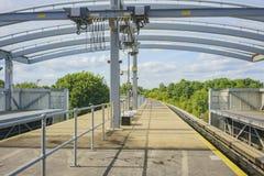 La métro de l'aéroport de Gatwick Images stock