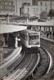 La métro parisien photo libre de droits