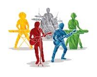 La música congriega vector gráfico ilustración del vector
